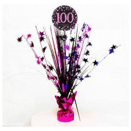 Peso centro de mesa 100 rosa