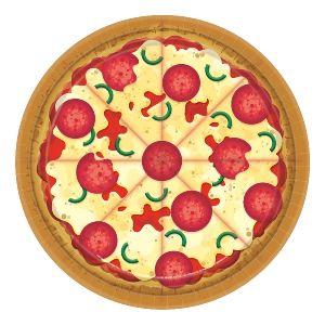 Platos pizza postre pack 8 18cm