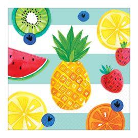 Servilletas frutas tropicales pack 16
