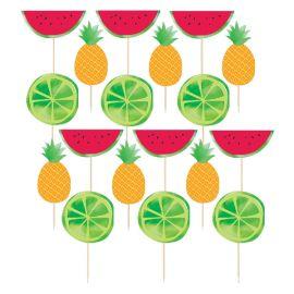 Palillos frutas tropicales pack 21
