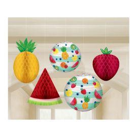Decoracion frutas colgantes