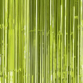 Cortina metalizada flecos verdes