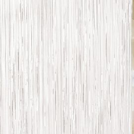 Cortina metalizada blanca flecos
