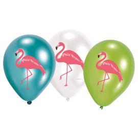 Globos flamenco rosa pack 6