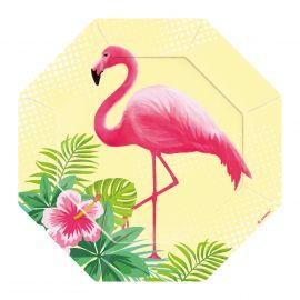 Platos flamenco rosa 18 cm pack 6