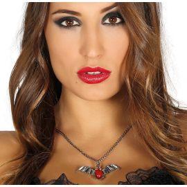 Collar murcielago rojo 6,5cm