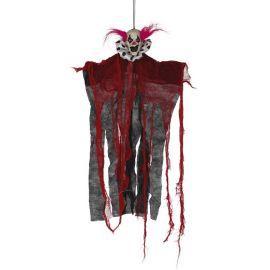 Payaso colgante rojo y negro 60cm