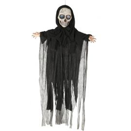 Colgante calavera negra animada 180cm