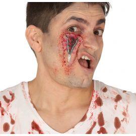 Cicatriz cremallera ojo latex
