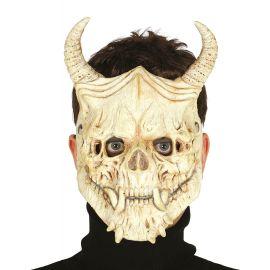 Mascara calavera foam con cuernos