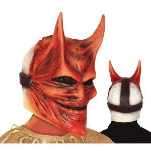 Mascara diablo luzbel con cuernos
