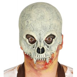 Media mascara calavera con cuernos