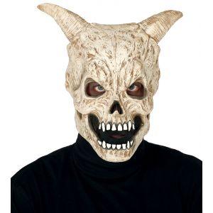 Mascara calavera con cuernos latex