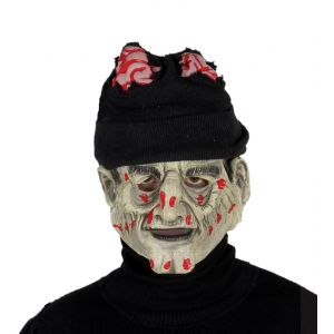 Mascara zombie con gorro