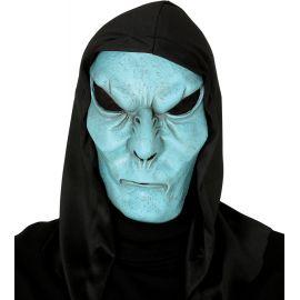 Mascara monstruo azul con capucha