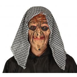 Mascara bruja con capucha latex