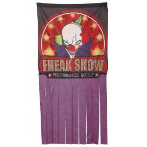 Cortina circo del terror 155x78cm