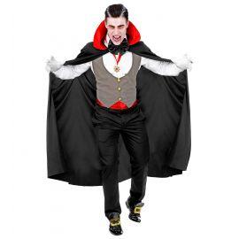 Disfraz vampiro con chaleco gris adulto