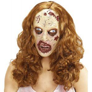 Mascara zombie susurrador con pelo