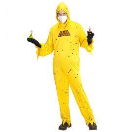 Disfraz mono amarillo toxico adulto