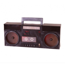 Radiocasette fantasma con luz y sonido