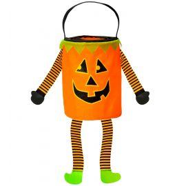 Bolsa calabaza con patas naranja