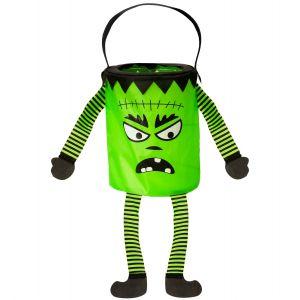Bolsa calabaza con patas verde