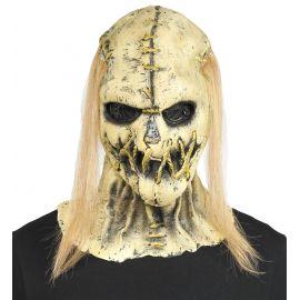 Mascara espantapajaros zombie pelo