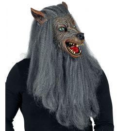 Mascara hombre lobo con pelo