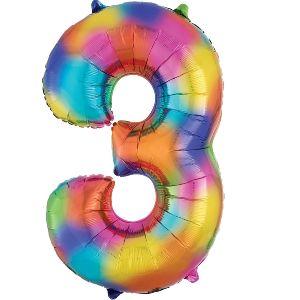 Globo helio numero 3 multi