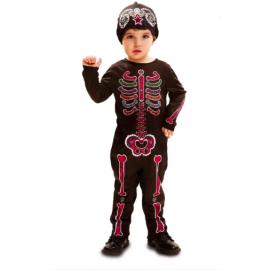 Disfraz bebe esqueleto dia de los muerto