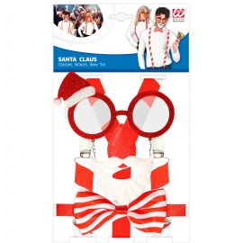 Set Santa gafas tirantes y pajarita