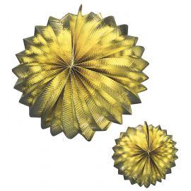 Set 2 faroles oro 25 cm