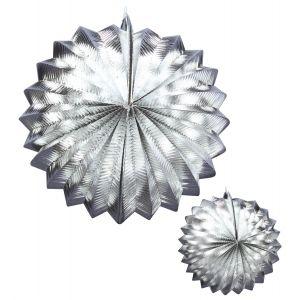 Set dos faroles plata 25cm