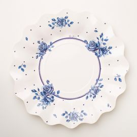Platos rosa inglesa azul 8 und 27 cm