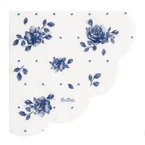 Servilletas rosa inglesa azul 33x33