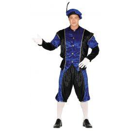 Disfraz paje adulto azul