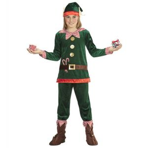 Disfraz elfo terciopelo inf