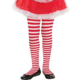 Medias rayas rojas niñas 6-8 años