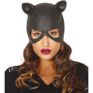 Mascara gata negra latex