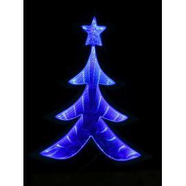 Arbol azul luz 20cm