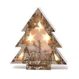 Arbol madera luz 16cm