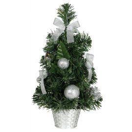 Arbol decorado plata 40cm
