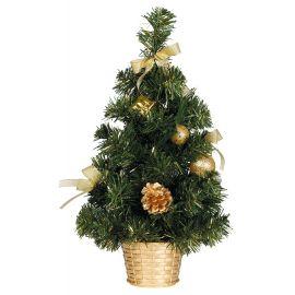 Arbol decorado oro 30cm