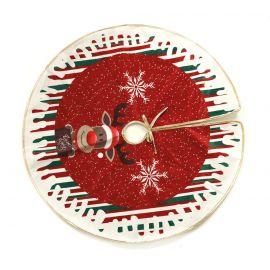 Pie de arbol decorado reno 70cm