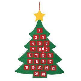 Calendario adviento arbol 55x70cm
