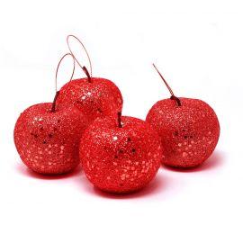 Pack 4 manzanas escarcha rojo 6,5cm