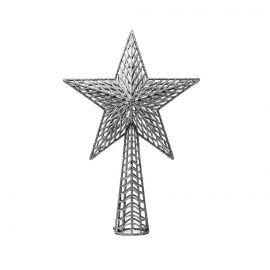 Remate arbol estrella plata 37cm