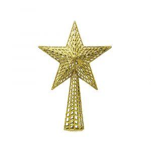 Remate arbol estrella oro 37cm