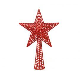 Remate arbol estrella roja 37cm